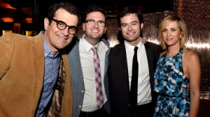 Supporting actor Ty Burrell, Director and Co-writer Craig Johnson, Bill Hader, Kristen Wiig